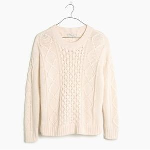 Madewell Classic Cable Knit Pullover Sweater S